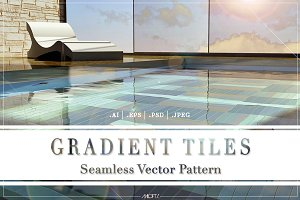 Gradient Tiles | Vector Pattern