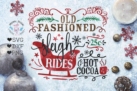 Sleigh Rides Cut File SVG DXF PNG