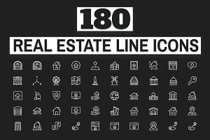 180 Real Estate Icons