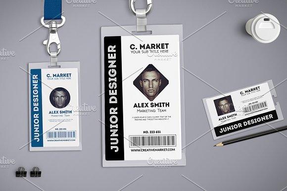 Multipurpose Id Badge Card Templates Creative Market