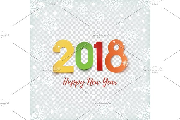 Happy New Year 2018 Abstract Design Template