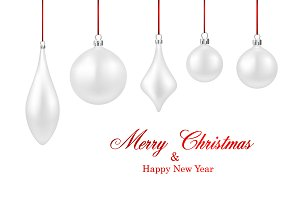 Two Merry Christmas & New Year cards