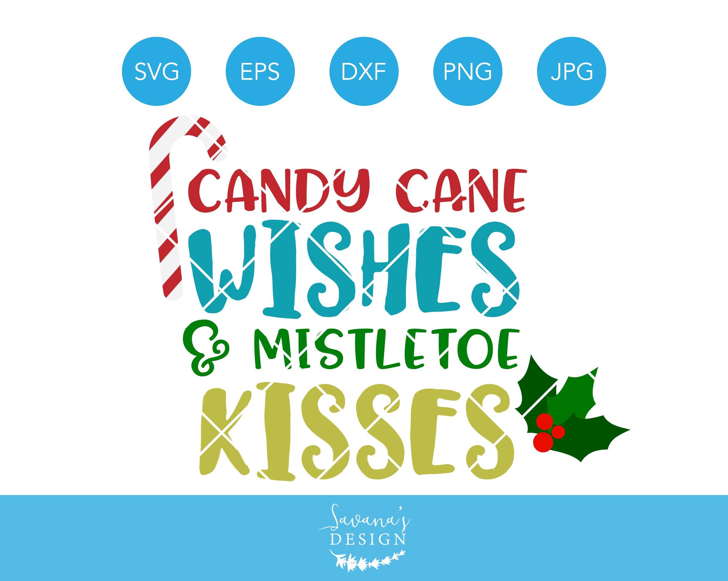 Candy cane wishes mistletoe kisses illustrations creative market buycottarizona Image collections