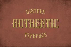 Authentic Vintage Label Typeface