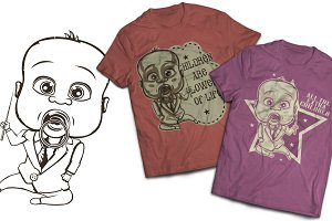 Child T-shirts And Poster Labels