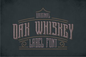 Oak Whiskey Vintage Label Typeface