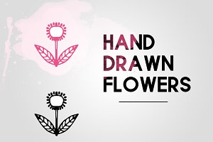 Hand drawn flowers illustration