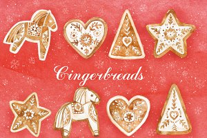 Christmas clipart. Gingerbread
