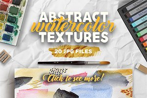 Watercolor abstract textures