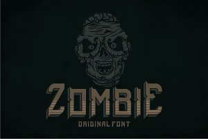 Zombie Modern Label Typeface