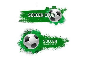 Soccer team club football ball vector icon