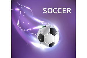 Vector soccer football tournament poster