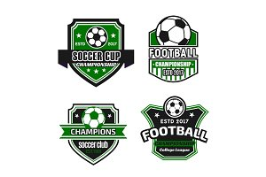 Vector icons for soccer championship football cup