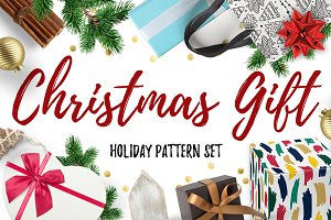 Christmas Gift ❄ Holiday Pattern Set