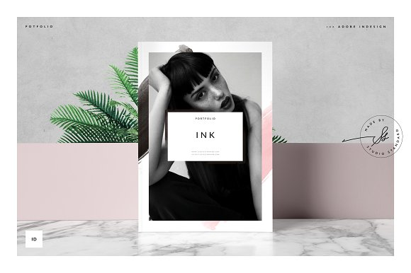 ink portfolio brochure brochure templates creative market