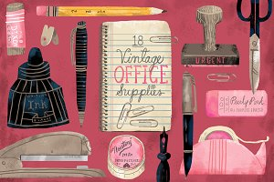 18 Vintage Office Supplies