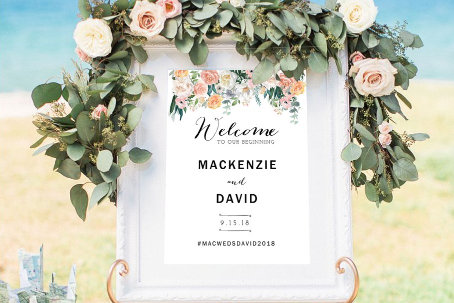 Wedding Welcome Sign.Wedding Welcome Sign Template