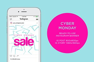 Cyber Monday Instagram Banners
