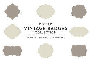 Dotted Vintage Badges Collections