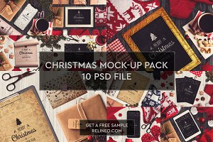 Christmas Mock-ups 10 PSD Pack #2