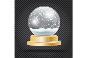 Christmas Crystal Ball with Snow