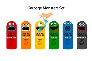 Garbage cans for kids