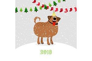 Christmas 2018 dog