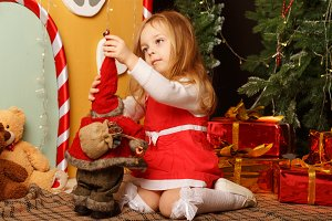 Little girl and Christmas