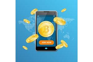 Bitcoin Mining Concept Win