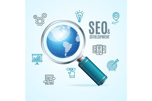 Search Engine Seo Concept. Vector