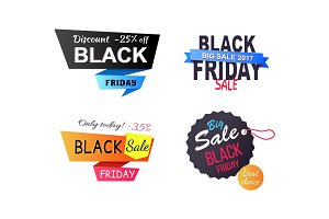 Discount -25% Off Only Today Vector Illustration