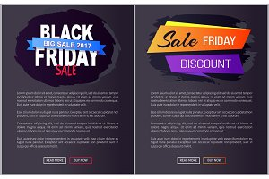 Black Friday Big Sale 2017 Promo Web Posters Info