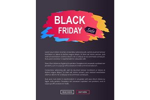 Black Friday Sale Prom Web Poster Advertising Info