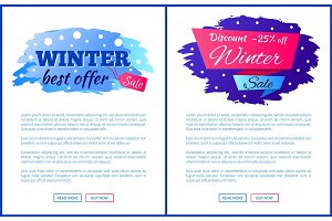 Winter Best Offer Sale Promo Web Posters with Text