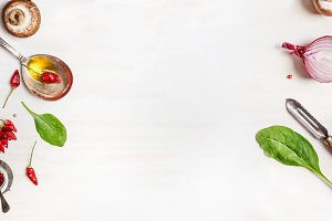 Healthy vegetarian food banner