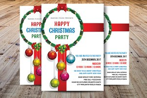 Christmas Party Flyer Template