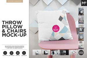The Throw Pillow Cover With Chairs