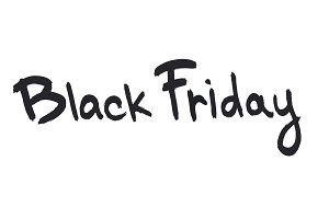 Black friday ink drawn lettering. Black friday ink calligraphy