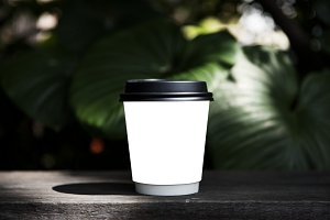Design space on coffee cup (PNG)