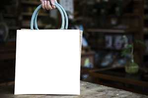 Design space on blank bag (PNG)