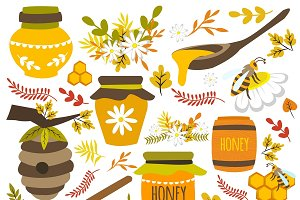 Honey Hand Drawn Elements