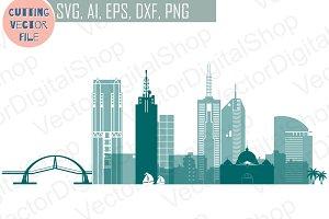 Melbourne vector Australian skyline