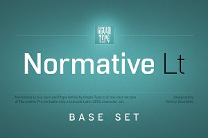 Normative Lt – 4 fonts