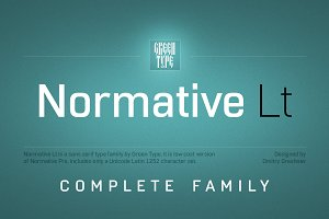 Normative Lt – 12 fonts