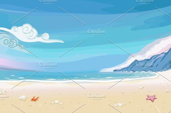 Paradise Beach Lagoon Landscape