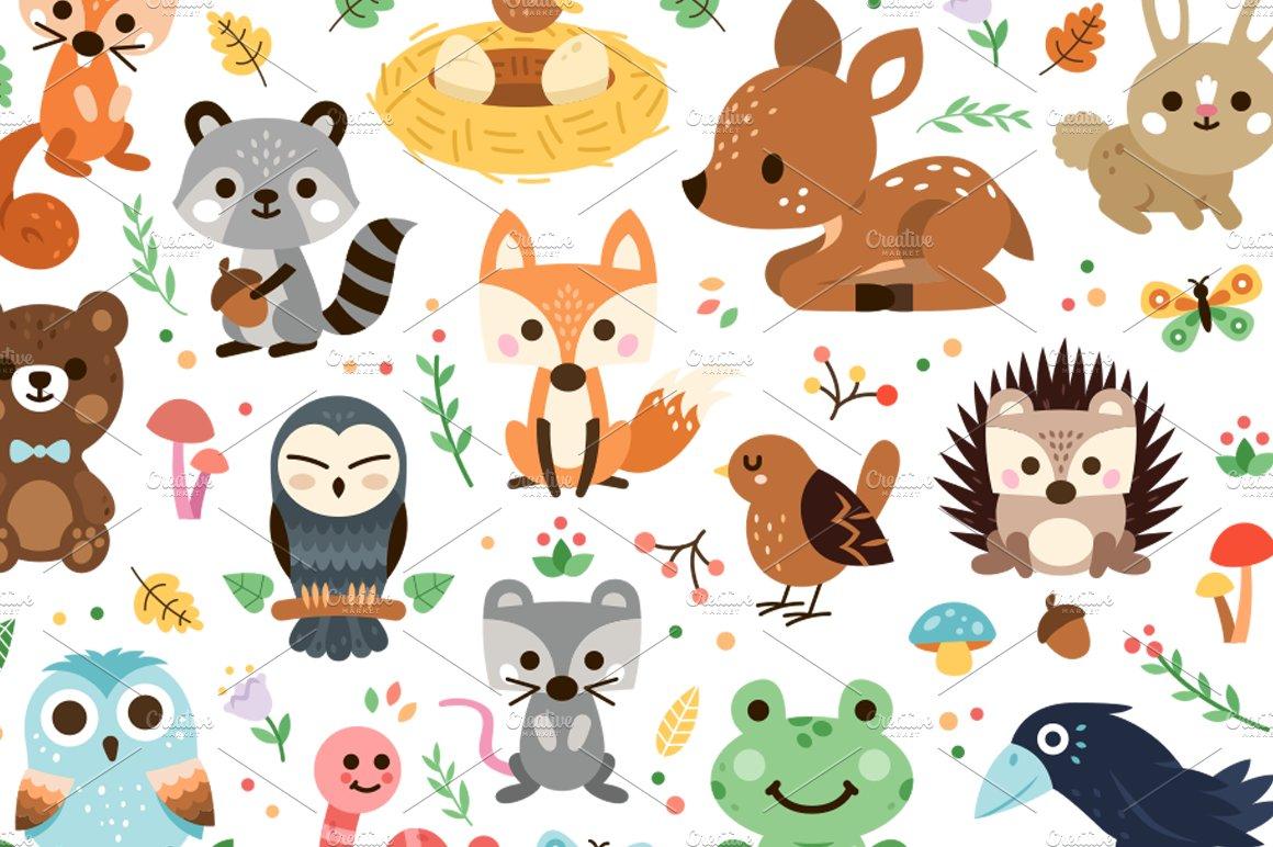 clipart animal woodland decoration graphics market illustrations designer follow