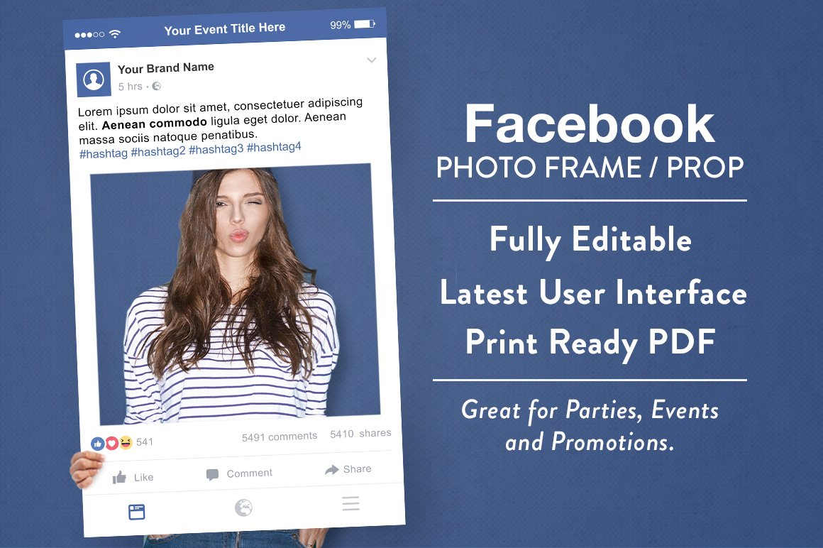 Facebook Photo Frame Prop Graphics Creative Market