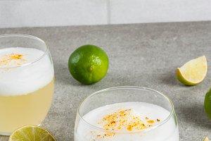 Chilean liqueur pisco sour