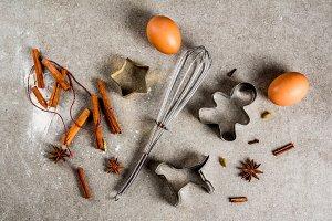 Christmas baking equipment