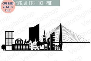 Charleston Skyline Vector AI Svg Eps